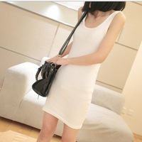 2014 spring women's vest women's handbag tank dress small vest tank long design basic vest female