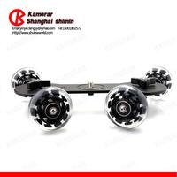 Kamerar DSLR Cinema Skater Dolly System With Four Adjustable Locking Skater Wheels For Video Camera
