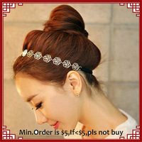 Fashion Girls Hair Jewelry New Gold Hollow Rose Flower Headbands 2014 Cheap Gold flower hair Elastic rope for women hair jewelry