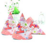 FREE SHIPPING Birthday party supplies/princess/spider-man/kitty/mickey & minnie hat /SpongeBob SquarePants hats