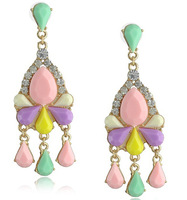 New Candy Color Chandelier Waterdrop Earrings New Women Jewelry Earring Free Shipping