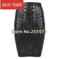 (DEIVE TEGER )wholesale  free shipping 2013 new bandage women Skirts  Black HL1074