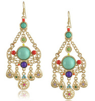 New Bohemia Earrings Blue Big Waterdrop Earring for Women for Women Free Shipping
