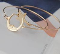 European and American trade jewelry wholesale, cute little star bracelet, moon bangle