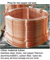 Free shipping Size: 3*0.5*1000mm(outer diameter*thickness*length) , red copper roll tube, red copper pipe