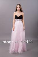 free shipping romantic bridemaid dresses plus size designer A-line dress custom made