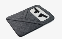 "New 11""11.6""13""13.3""15""15.4"" Woolen Felt Laptop Cover Envelope Case Sleeve Bag For Macbook Air Pro"
