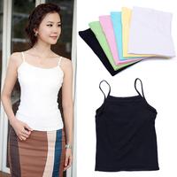 Hot Women Elastic Slim Spaghetti Strap Vest Tops Camisole Base T-Shirt #57879