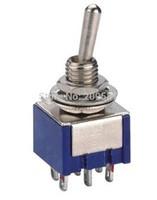 100pcs/lot 6-Pin DPDT ON-OFF-ON Mini Toggle Switch 6A 125VAC Mini Switches
