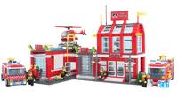 Enlighten Building Blocks Toys Fire Control Regional Bureau Educational Construction Toys for Children Lego Compatible Bricks
