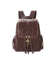 fashion leather women backpack women shoulder bag free shipping retro schoolbag