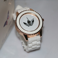 Top branded trend silicone strap rose gold brief jelly watch women relogio free shipping white christmas gift sport relojes men