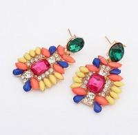 YXSP1663      2014 new fashion   Ruili wild sweet gem      earring for women