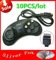 10pcs/lot FreeShipping Summer Vacation Gift 2014 New Hot 6 Digital Button Controller Fighting Putt For SEGA Mega Drive & Genesis