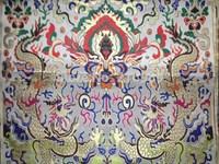 fabrics textile, Chinese silk tapestry satin, Dragon pattern ,Tibet high-end Tibetan silk X5
