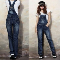 Women Overalls Jeans Pants Fashion Lady Denim Jumpsuits Plus Size Rompers Trousers Women Pants XXL Macacao Feminino 2014 7206