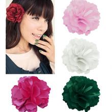 1PC Fashion New Ladies Satin Peony Flower Hair Clip Hairpin Brooch 2014 New Arrived FZ2598-FZ2604(China (Mainland))