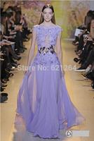 2014 new women organza embroidery elegant long evening dress formal