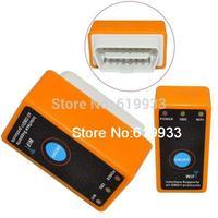 Portable ELM327 Wi Fi Interface Wireless OBD II Car Diagnostic Scanner Tool Orange (12V)