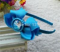 "10 pcs 4"" Bottle Caps bows frozen Elsa hair headband  ribbon boutique hair bows kids girl  Xmas gift hair accessories Halloween"