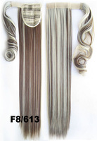 """24""""/60cm Wrap Around Clip  colored hair extensions  colorPonytail Extension For Woman Straight Fashion Ponytail Good Quality"""