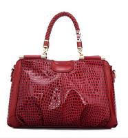 2014 crocodile pattern genuine leather women's handbag fashion cowhide genuine leather one shoulder bag handbag tote 36225