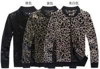 New 2014 Leopard Causal Jacket Men Korean Fashion Slim fit Spring Autumn Outwear Men'S Clothing CMR52