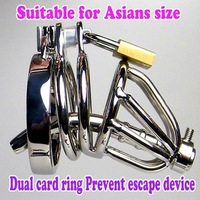 Male Chastity Device Stainless steel Cock Ring With Urethral Sounds Penis Plug Fetish Anal Hook Sex Toy Cage
