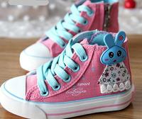 Retail 2014 new arrival girl child princess casual dress kids spring cartoon rabbit high-top sport shoes size23-31 C417