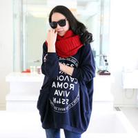 2014 New Fashion Women Large Size Fat Winter New Korean Sweatshirts Sleeve Loose Long-sleeved Fleece Jacket For Women
