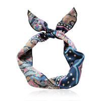 Lucias hair accessory vintage print ribbon bow hair bands cute headband hair pin hair accessory