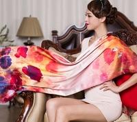 Fashion Woman 100% Silk Scarf Girl's Shawl Wrap Stole Lady Neckerchief S05091