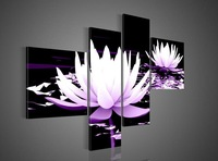 5pcs/set Framed flower  Oil Painting On Canvas Pictures Decor living room decoration pictures wall decor landscaping paintings