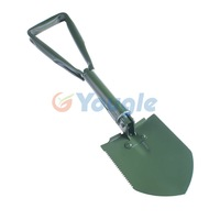 Portable Multi functional Tri-fold Three Folding Shovel Shovels Spade Pickaxe Outdoor Camping Exploration Survival Tool