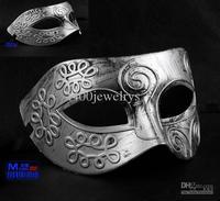 Men Retro Greece Roma Fighter Masquerade Mask Party Masks Halloween Christmas Ball Mask High Quality 20Pcs/Lot