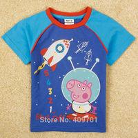 fashipn boys top short peppa pig boy t shirt new 2014 nova brand kids t shirt child clothing kid t shirt peppa clothes C4932