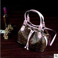 Hot European for woman fashion shoulder bags woman's PU handbags 14 colors