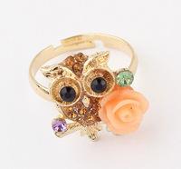 YXSP3005      2014 new fashion  Wild sweet retro owl    Rings for women