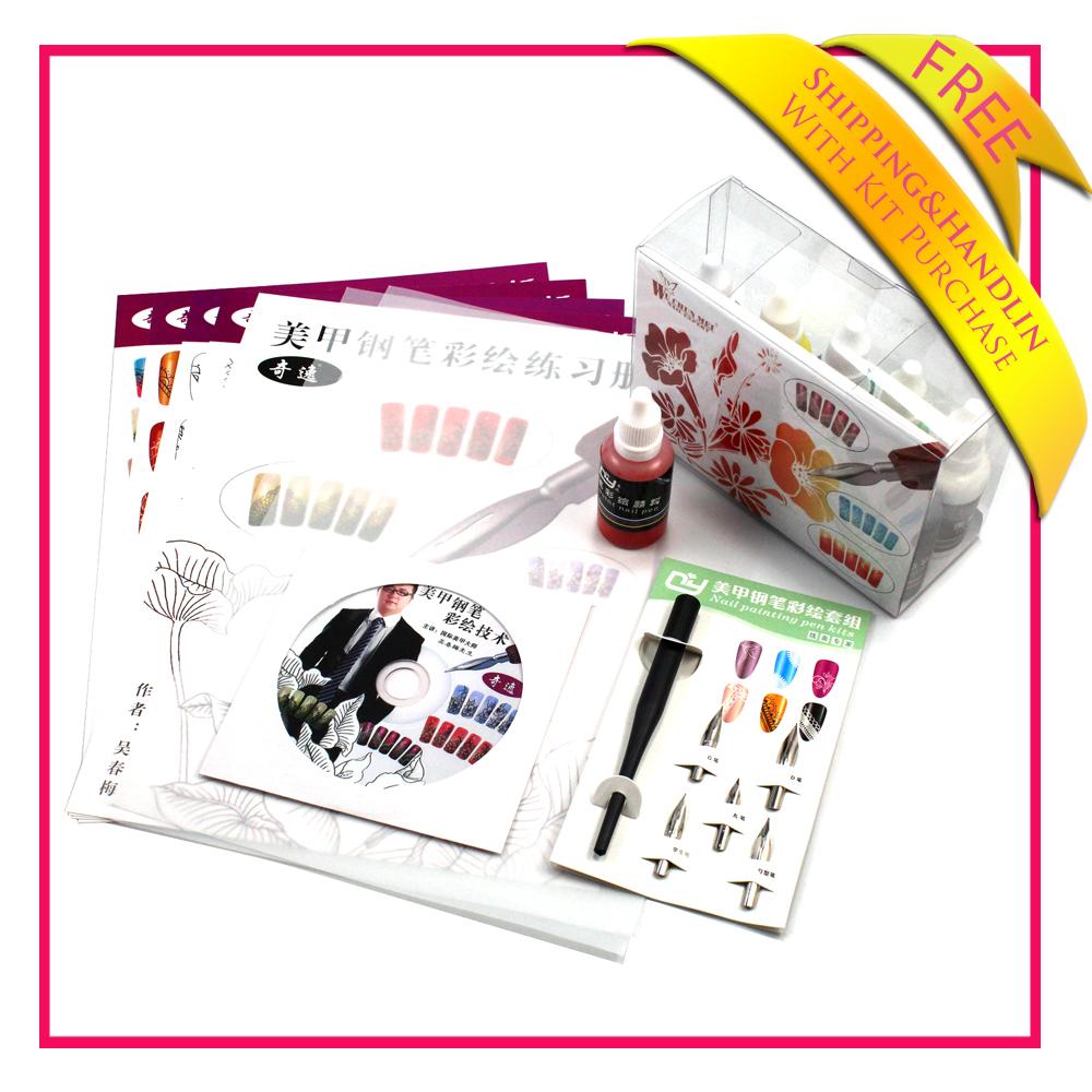 2014 New Pro Nail Art Pen Painting Paint Drawing Pen Nail Tools Manicures Free Shipping(China (Mainland))