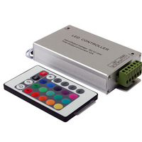 Free Shipping LED controller DC 12 v article seven lights with 24 key controller RGB lamp module,infrared remote control dimmer