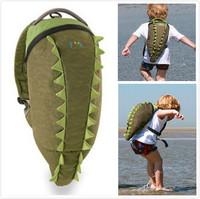 new UK fashion design Cute 3D carton crocodile/shark/dophin children's backpack bag water-proof kids' travel bag~for 3Y~8Y