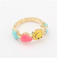 YXSP3017        2014 new fashion     Cartoon smiley love        Rings for women