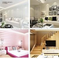 10M European Modern Minimalist Country Luxury Stripe Wallpaper Roll For Living room Bedroom TV Backdrop Wall 4 colors choose
