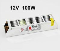 slim mini switching power supply 12v 100w,ac 110v 220v converter to dc 12v powr supply for led strip light