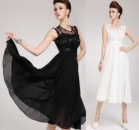Women Vintage Lace Patchwork Chiffon Long Dresses Maxi Ruffle Party Evening Ball Gown Dress Vestidos