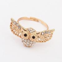 YXSP3009      2014 new fashion    Palace retro diamond owl     Rings for women