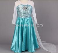 Retail children clothes kids clothing, girls dresses, girl long sleeves  frozen Elsa & Anna dress