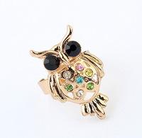 YXSP3011      2014 new fashion   Personalized retro owl    Rings for women