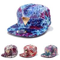 2014 New Fashion Celebrities G.E.M Hater Series Women 'S Snapback Hats Peacock Print Hip Hop Sport Bone Baseball Caps Chapeu