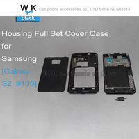 Black colour Original Replacement Parts for samsung galaxy S2 i9100 housing full set Cover Carcase case S2 Accessories